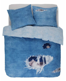 Covers & Co Dekbedovertrek Ripped Jeans (blauw) 200x200/220