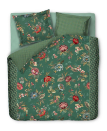 PiP Studio Dekbedovertrek Poppy Stitch (green) 200x200/220