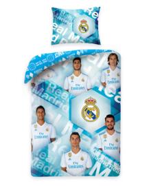 Real Madrid Dekbedovertrek Team Real (ice blue) 140x200