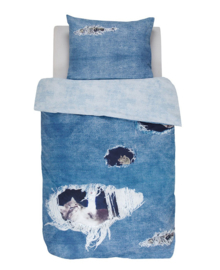 Covers & Co Dekbedovertrek Ripped Jeans (blauw) 140x200/220