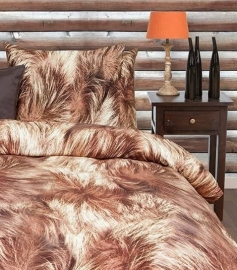 HnL Flanel Dekbedovertrek Grizzly (taupe) 260x200/220