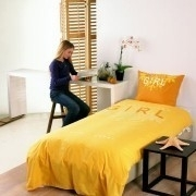 Kardol en Verstraten Dekbedovertrek Girl (geel) 140x200/220