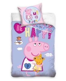 Peppa Pig Dekbedovertrek Happy (multi) 140x200