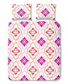 Good Morning Dekbedovertrek Tiled (pink) 240x200/220