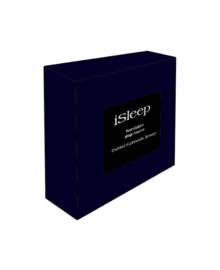 iSleep Hoeslaken Dubbel Jersey (donker blauw)