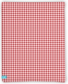 Lief! Hoeslaken Red Check 40x80