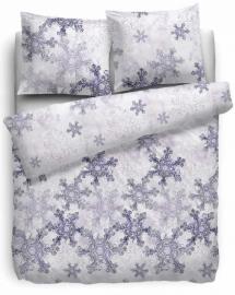 HnL Refined Flanellen Dekbedovertrek Snowflakes (lilac) 260x200/220