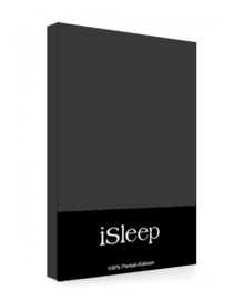 iSleep Kussensloop Perkal Katoen 2 stuks (antraciet) 60x70