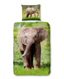 Good Morning Dekbedovertrek Elephant (multi) 140x200/220