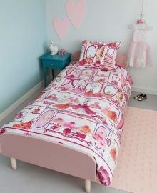 Beddinghouse Dekbedovertrek Princess Wardrobe (pink) 140x200/220