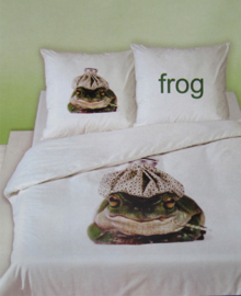 Dekbedovertrek Frog (green) 140x200