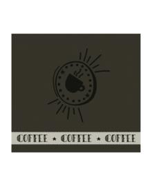 DDDDD Theedoek Hello Coffee (army)