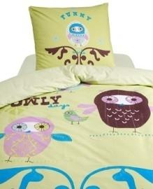 Damai Peuter Dekbedovertrek Owly (green) 120x150
