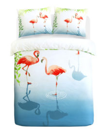 Papillon Dekbedovertrek Flamingle (multi) 140x200/220