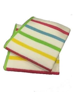 Bali Handdoeken 60x110 Streep Multi (Pak 2 stuks)