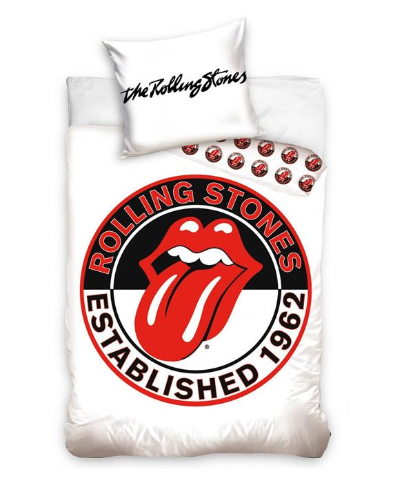The Rolling Stones Dekbedovertrek Logo (white) 140x200