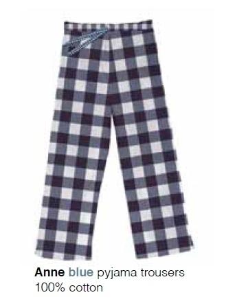 Marieke at Home Dames Pyjamabroek Anne (blue)