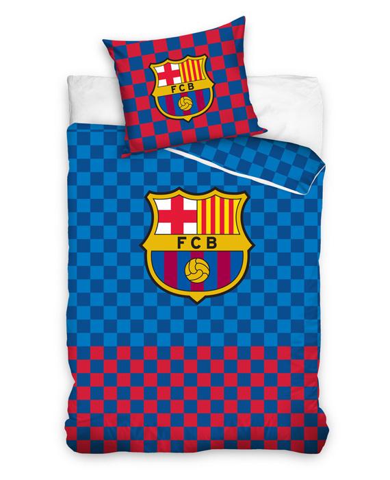 FC Barcelona Dekbedovertrek Checkered (blue/red) 140x200