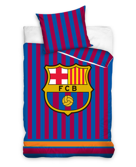 FC Barcelona Dekbedovertrek Striped (red/blue) 140x200