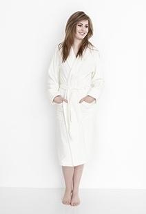 Heckett & Lane Badjas Velours Uni (off-white)