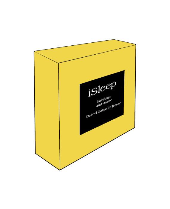 iSleep Hoeslaken Dubbel Jersey (geel)