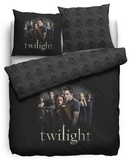 Twilight Dekbedovertrek Cullens (black) 140x200/220