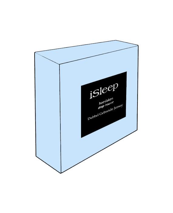iSleep Hoeslaken Dubbel Jersey (licht blauw)