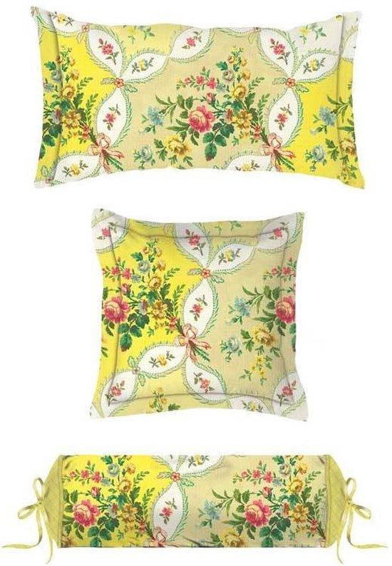 PiP Studio Sierkussen La Fleur de Vie (yellow) 22x70