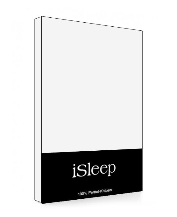iSleep Split-Topper Hoeslaken Perkal Katoen (wit)