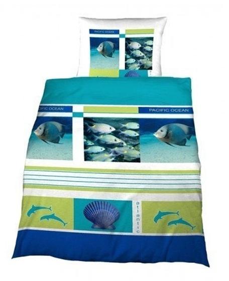Junior Dekbedovertrek Delphis (blauw) 140x200