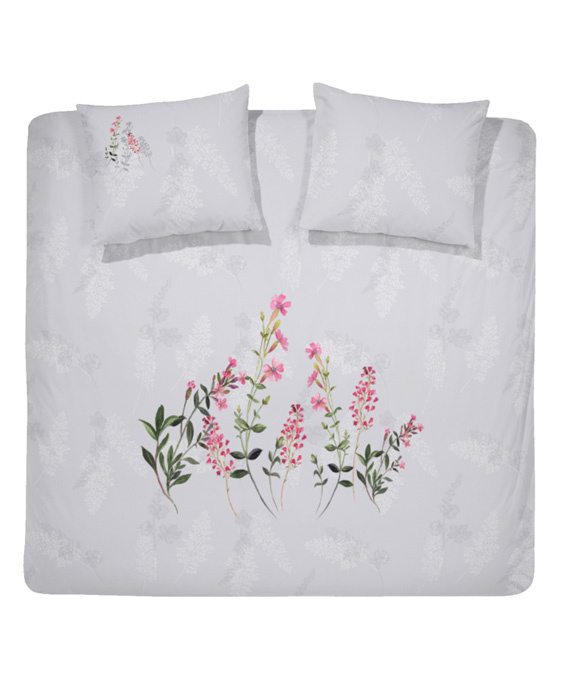 Cinderella Dekbedovertrek Primrose (light grey) 260x200/220