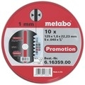 Slijpschijven Metabo 125x1.0 verpakking 10 stuks