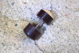 Houten oorbel, bloem (per stuk)
