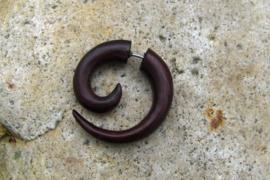 Houten triskel, rood/bruin (per stuk)