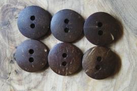 Houten knoop - middel 13mm