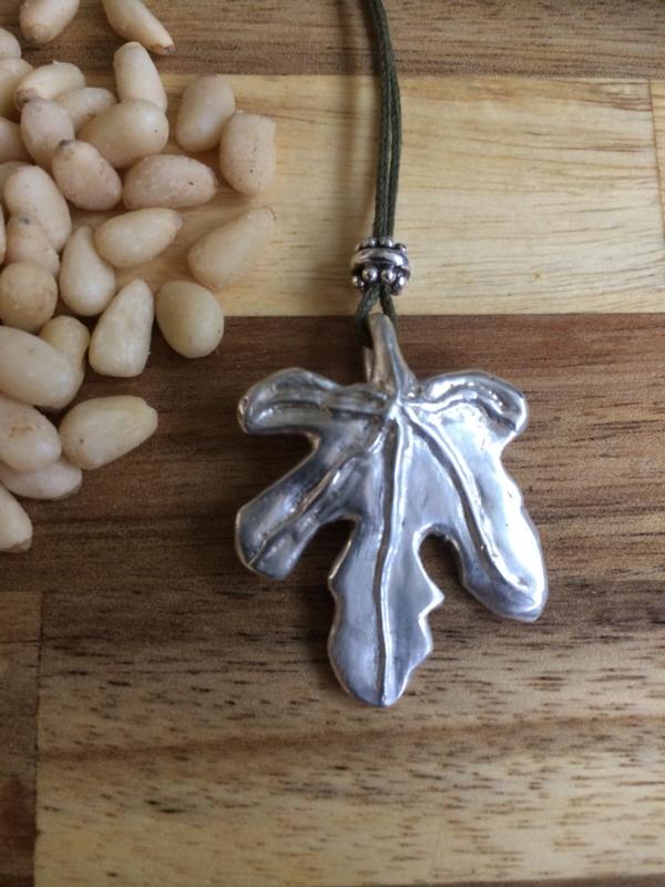 Zilveren hanger vijg