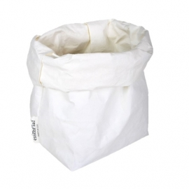Washable paperbag large wit