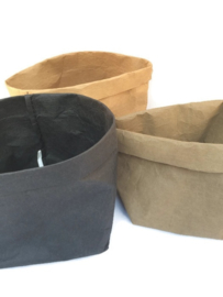 Washable paperbag small zwart