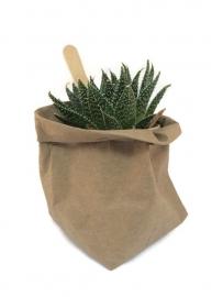 Washable paperbag small olijfgroen