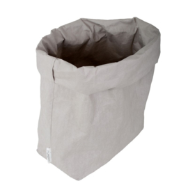 washable paperbag large grijs