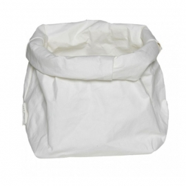 Washable paperbag medium wit