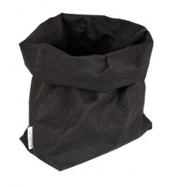 Washable paperbag large zwart