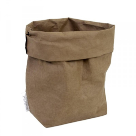 washable paperbag large olijf