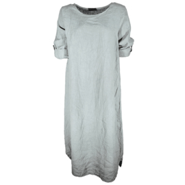 Linnen jurk licht grijs / light grey