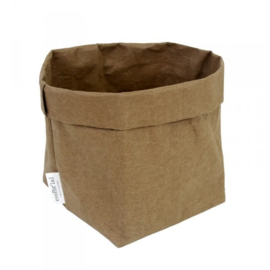 Washable paperbag small olijfgroen