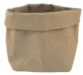 washable paperbag medium olijfgroen