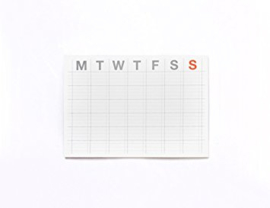 Monthly sticky planner
