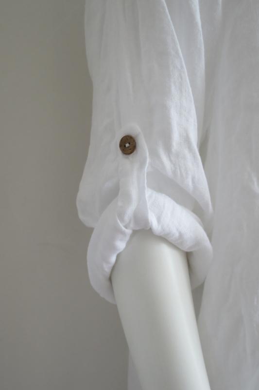 Verwonderlijk Linnen jurk wit | MODE & SOXS | VLECHTJES EN BRETELS VD-25