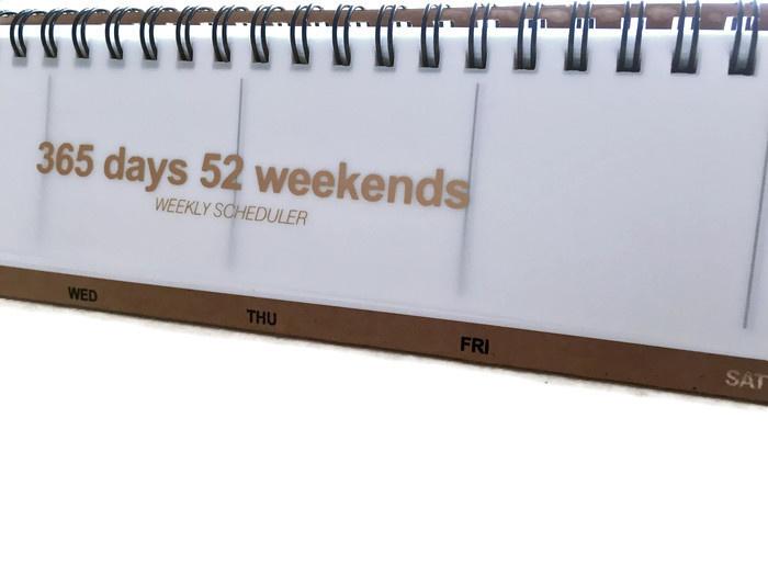 Weekly scheduler
