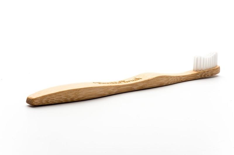 Bamboe tandenborstel wit